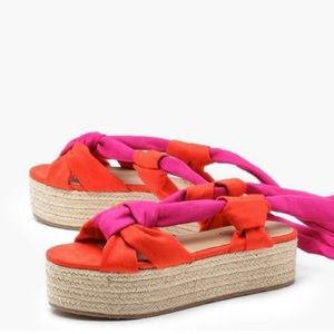 Color Block Platform Espadrilles
